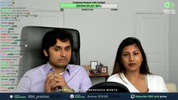 Dr K with Mrs K after an argument on stream