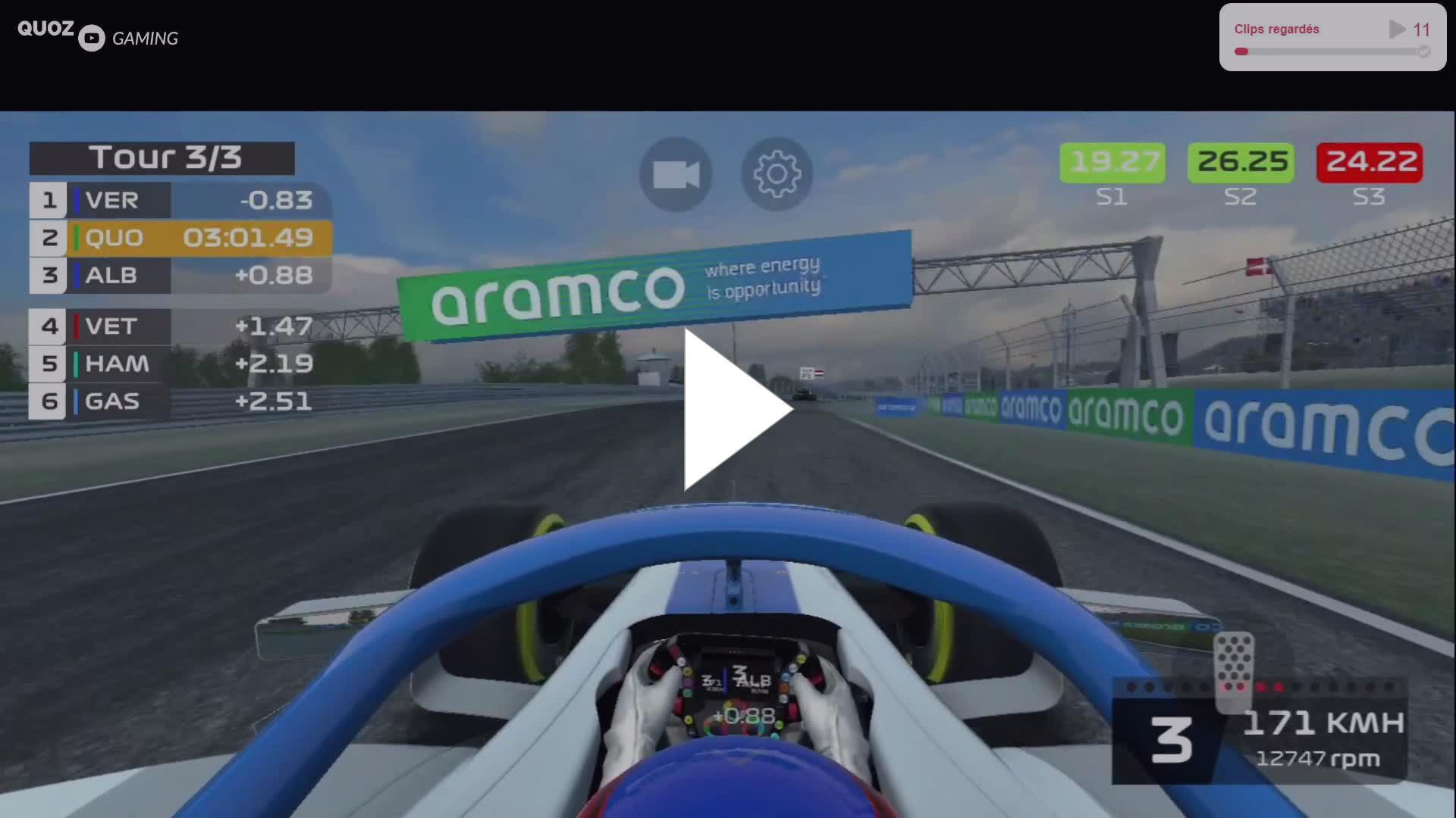 QuozGaming - A la lutte avec Max Verstappen sur le circuit de Zandvoort (GP des Pays-Bas) - F1 Mobile Racing