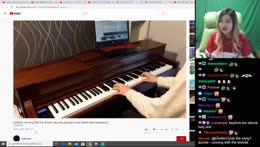Viewer's piano skills
