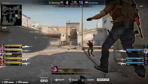 Snax finishes the match up with an ACE