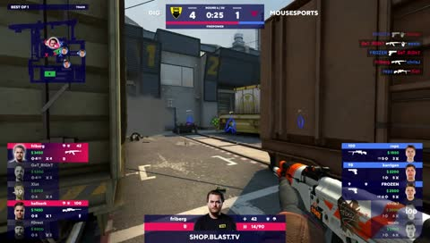 karrigan - 2 Deagle kills on the bombsite A defense (2vs2) to secure a limited buy round win
