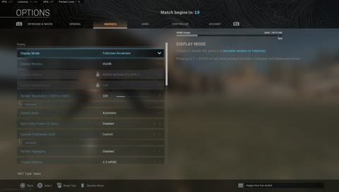 Settings, Audio and Controller