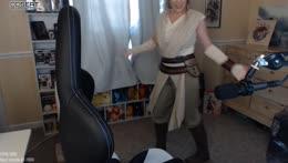 Rey does a twirl