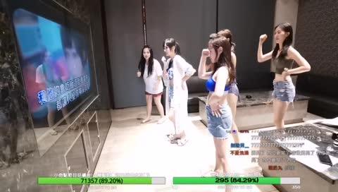 夏日泳池烤肉party,諾曼、湘湘、jojo、妮婭、咪咪蛋群跳心電心