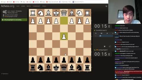 15-second match vs Stockfish level 5