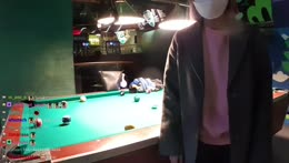 Hachubby enjoys a game of billiard