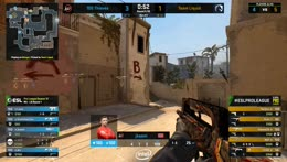 Stewie2K - 3 quick AK kills (2 HS) on the Mid to bombsite B offensive