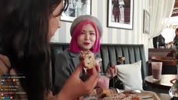Hachu eats cinnamon bun with ketchup