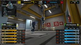 Bymas (3 USP-S) and frozen (2 USP-S HS) shut down the site A offensive (second half pistol round)
