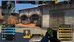 s1mple - 1vs3 clutch (T - post-plant situation)