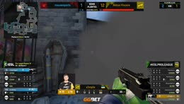 s1mple (T) wins the 1vs4 with the help of the bomb timer and mouse issues on karrigan's side 2/2