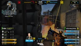s1mple - 1vs2 clutch (CT - pre-plant situation) to set Natus Vincere on match point