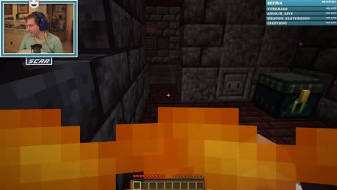 GoodTimesWithScar - Scar's first ever Dungeon Run ends early in the lava trap :( he takes the first book he sees.