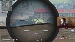 607M headshot while moving