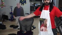 Esfand Sits On MizKif's Face gachiHYPER