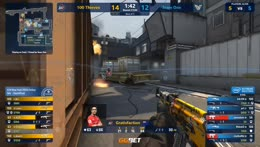 jks - 1vs2 clutch (T - post-plant situation) to set 100 Thieves on map point