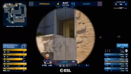sh1ro - 3 AWP kills on the bombsite B defense (2vs3 situation) to secure the match victory