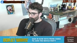 hasan informs viewers they can mute him during Borat II