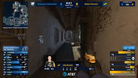 ESL_CSGO - electronic - 1vs3 clutch (T - bomb planted after 1 clutch kill)