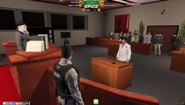 AJ Hunter during court
