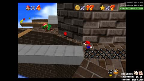 Casual Mario 64 Player attempting Cannonless(volume warning)