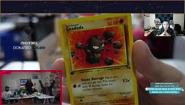 TrainwrecksTV allows Ludwig to have the next pack. $9000 card is pulled (Holo Dragonite)