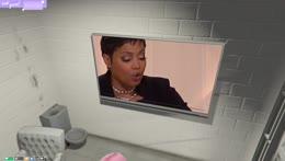 lana watching a TV in JAIL 😭
