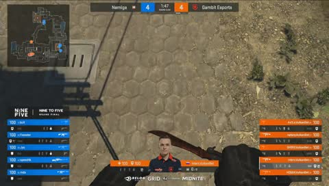 GRIDesports - mds - 4 M4A1-S HS kills on the Mid defense