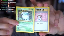 Ludwig gets a $2000 pokemon card