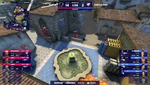 buster ganha clutch no VINI no bombsite B (Inferno)