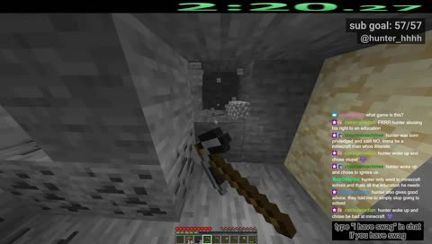hunter is good at minecraft