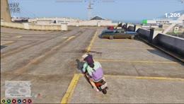 Gunner and Crystal do stunts
