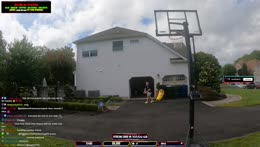 Little man tries to dunk