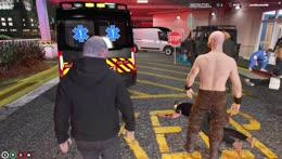 mel gta v protest at hospital