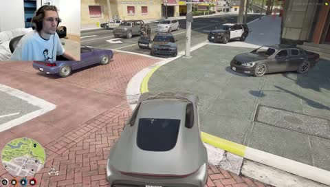 X sets car on fire while CG hits a bank
