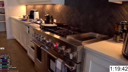Esfand shows his new kitchen