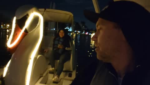 Lonely Single Man Scares Happy Couple On Swan Boat Ride