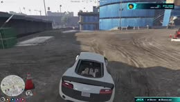 Tricky route through construction during cop chase