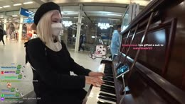 Random guy enjoying hachu pianotime