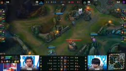 C9 Perkz turret dives to emote together with DK ShowMaker