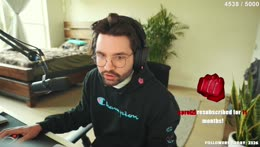 Cyr's epic reaction to being the 27th most watched stream on Twitch on 10/12/2021 at 5:11 PM CDT