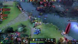 teamspirit magnus controlling the teamfight on the brink of death