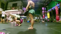 Twerking at Muay Thai Training