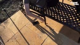 Poor streamer eats off the floor