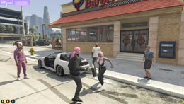 Lana fights in the burger shot parking lot