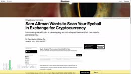 Scan your eyes for crypto