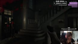 it sounds like hes upstairs...