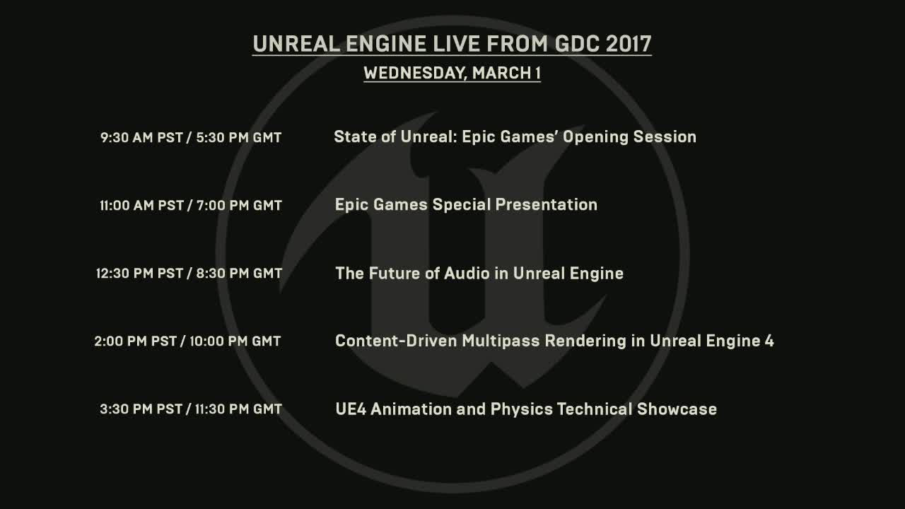UnrealEngine - Unreal Engine - LIVE from GDC! #ue4 #gamedev
