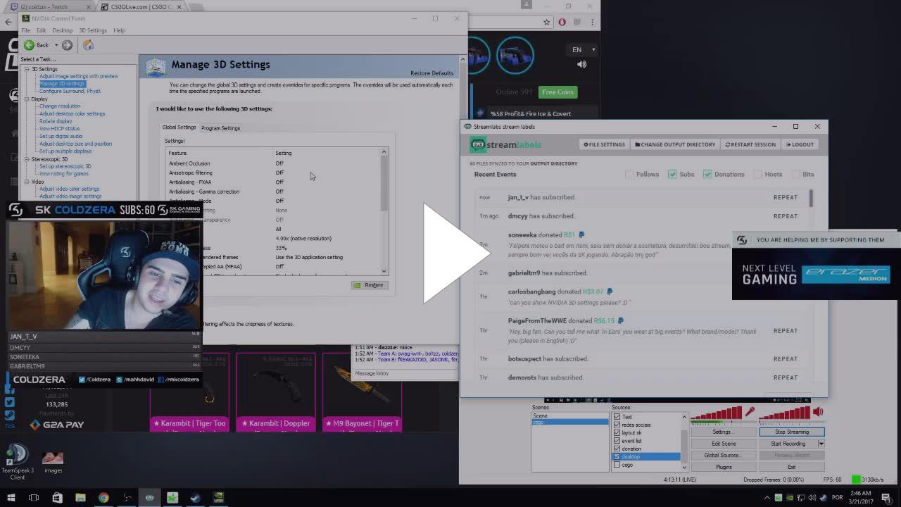 coldzera nvidia 3d settings - Twitch