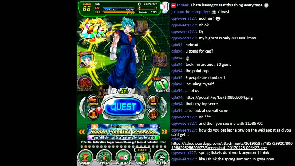 Record Keeper of the Exvius Mobius Dokkan Frontier! - Twitch